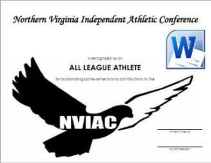 NVIAC All League Certificate - Template - Word Format